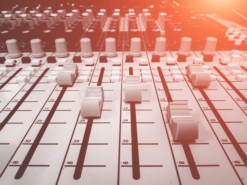 DJ console mixing desk stock images