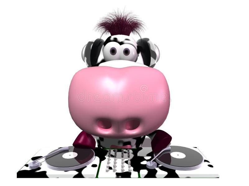 DJ cow royalty free illustration