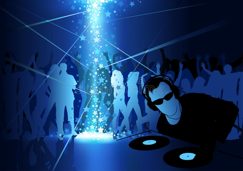 DJ Dance Party Background Stock Vector - Image: 72953310