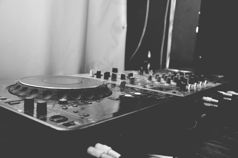 DJ deck and mixer royalty free stock images