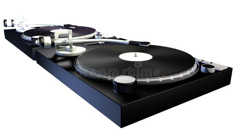 DJ decks vector illustration