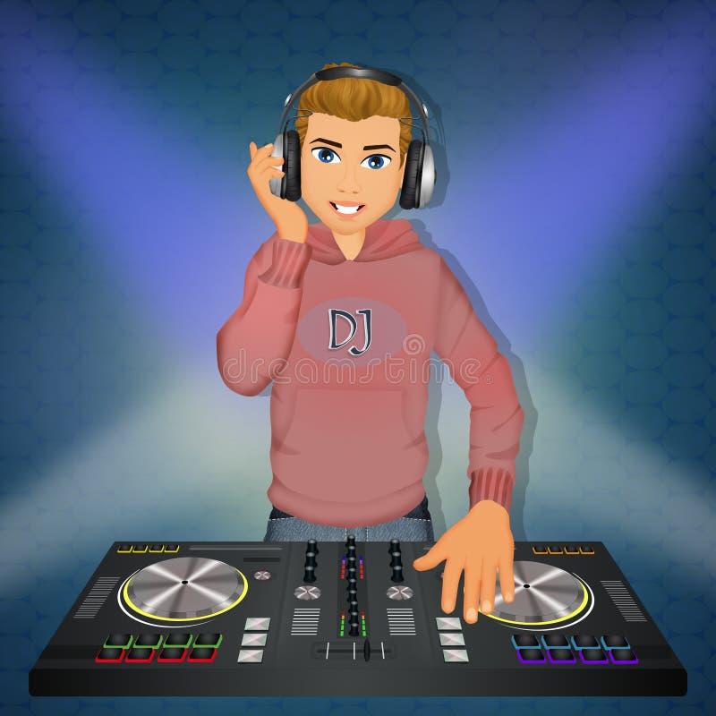 DJ an der Konsole vektor abbildung