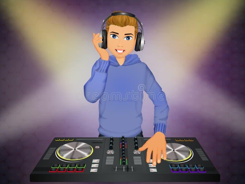 DJ an der Konsole stock abbildung