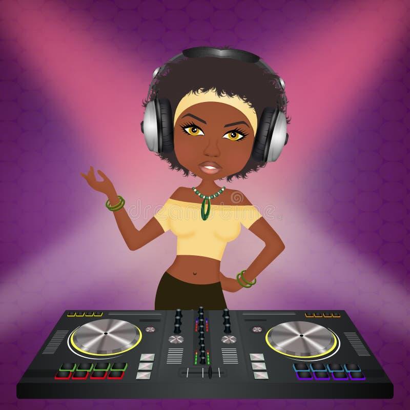DJ an der Konsole lizenzfreie abbildung