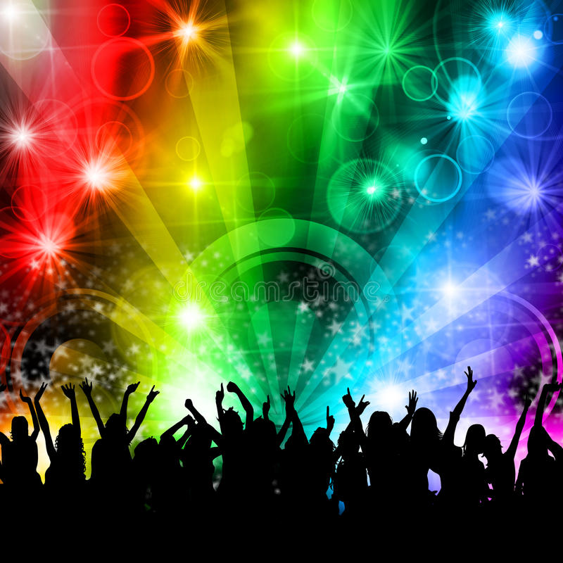 Download DJ Disco Music Party People Stock Illustration - Image: 22215831