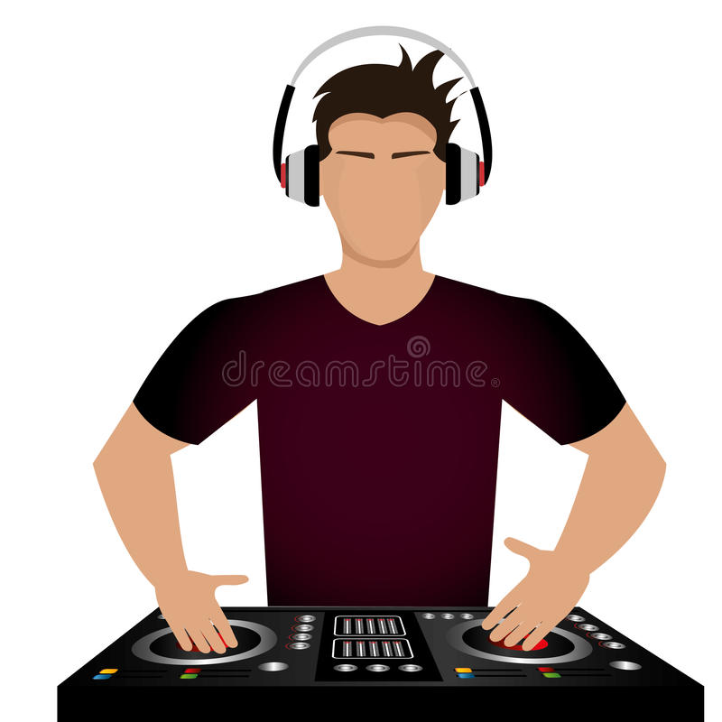 DJ diseña stock de ilustración
