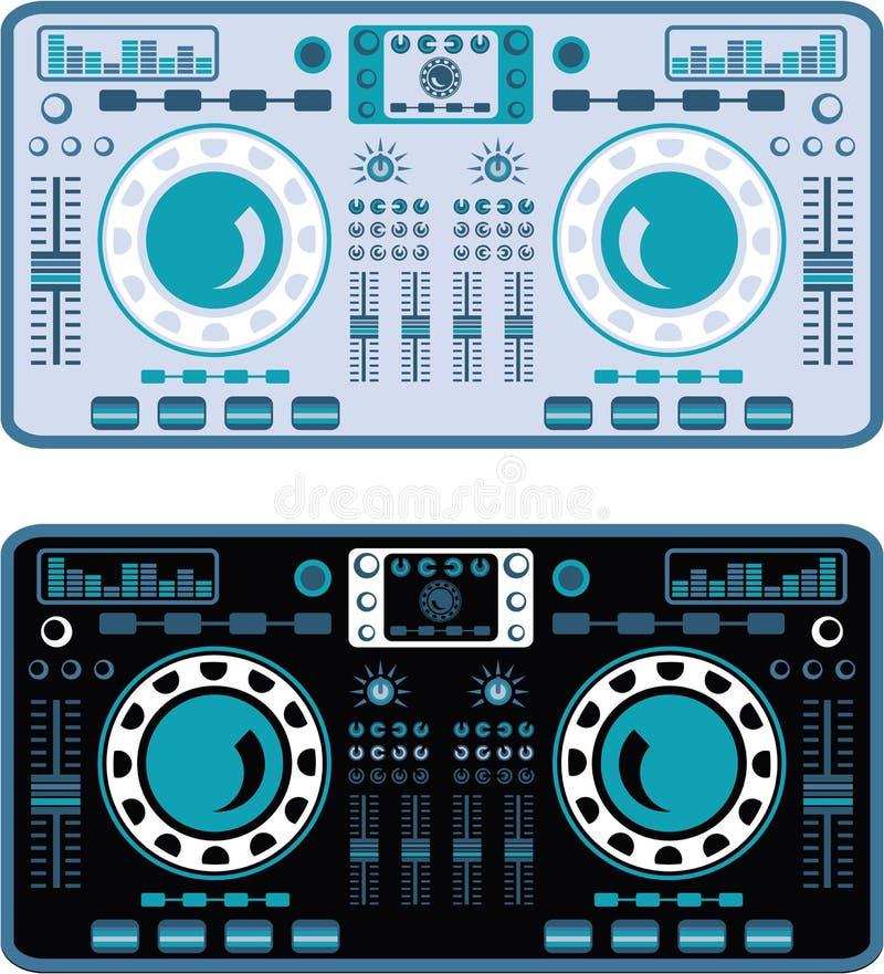 DJ-Drehscheiben-Vektor vektor abbildung