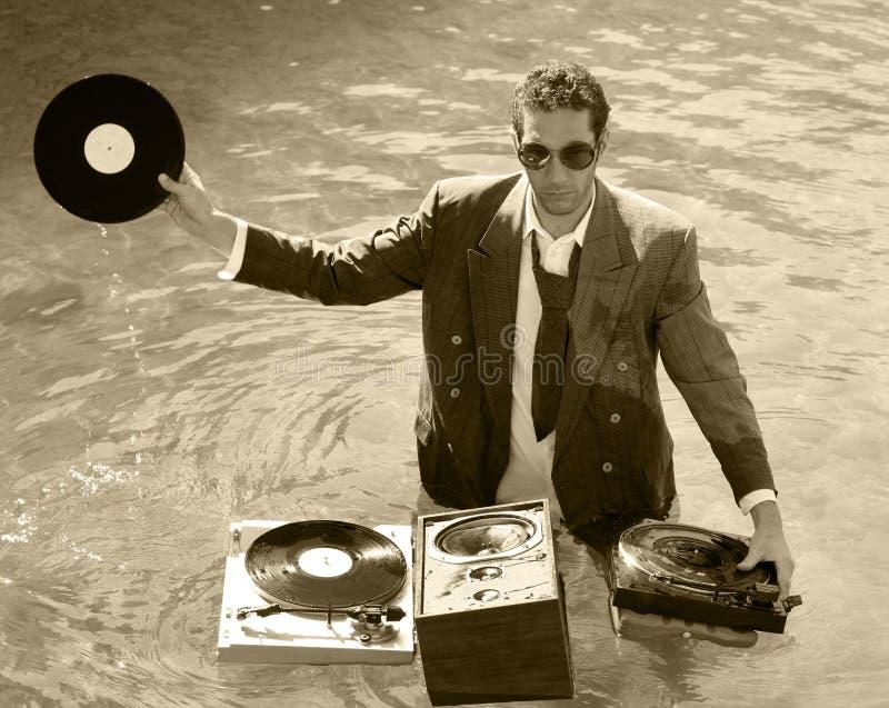 DJ en el mar imágenes de archivo libres de regalías