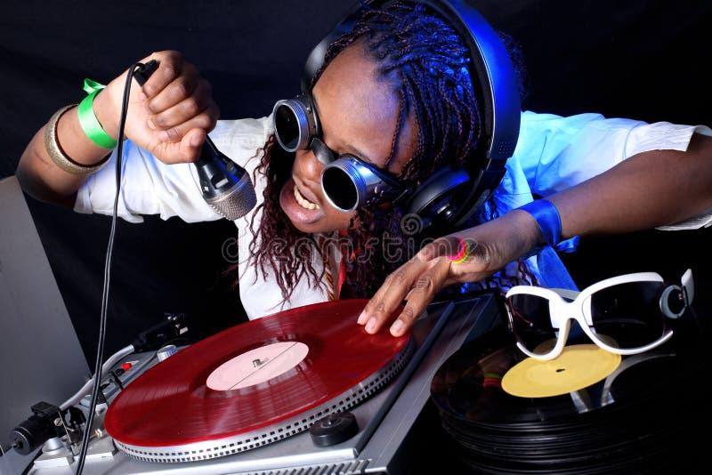 DJ en la acción imagen de archivo