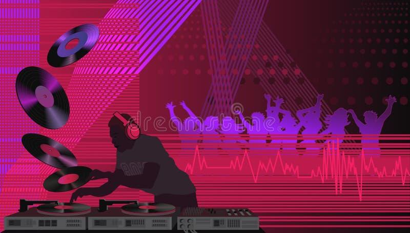 DJ en la casa ilustración del vector