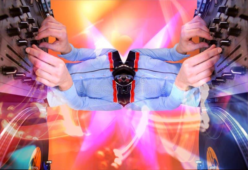 dj female funky pattern στοκ φωτογραφίες