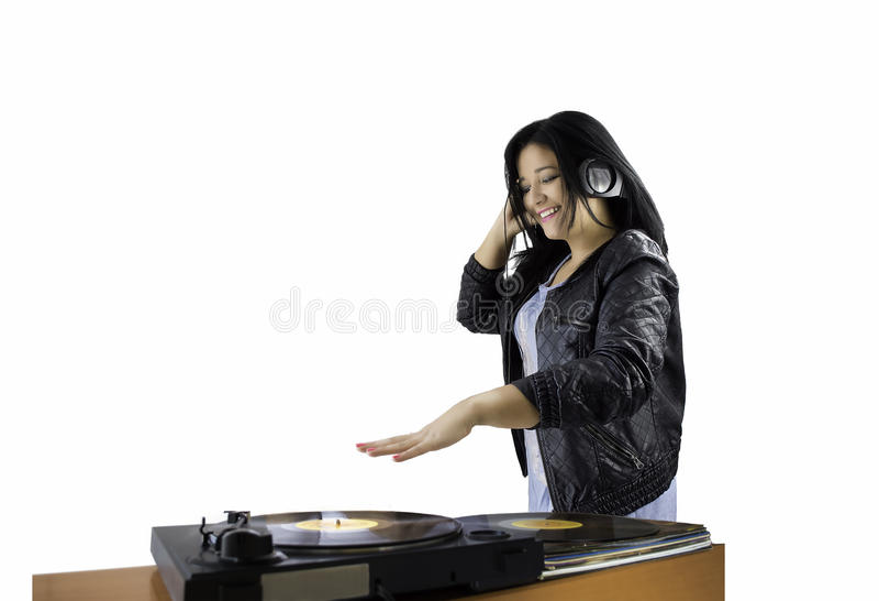 DJ femenino foto de archivo