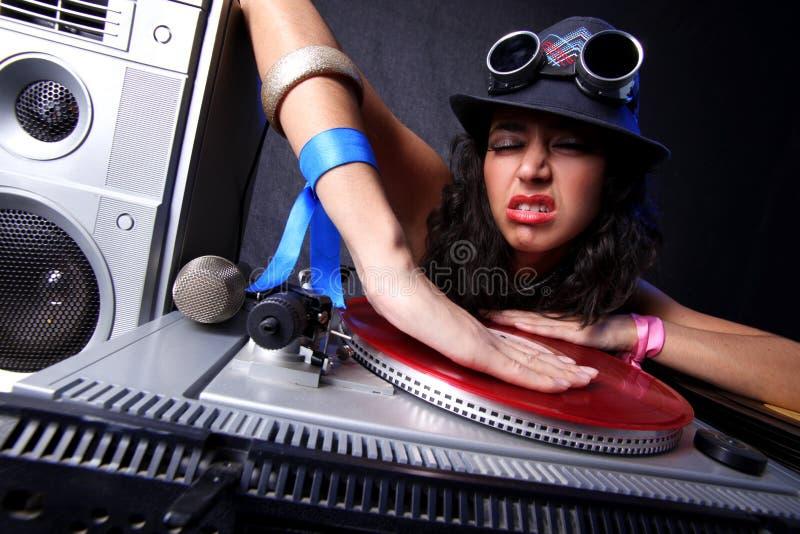 DJ fresco na ação fotos de stock