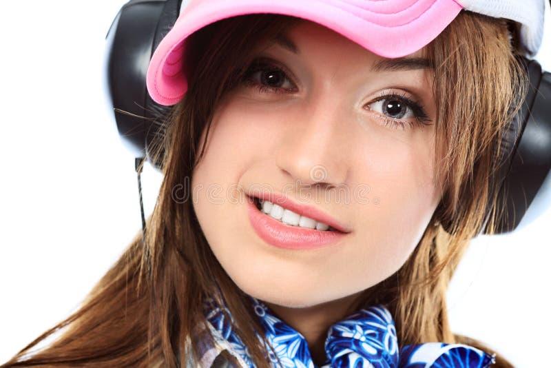 Dj girl royalty free stock photography