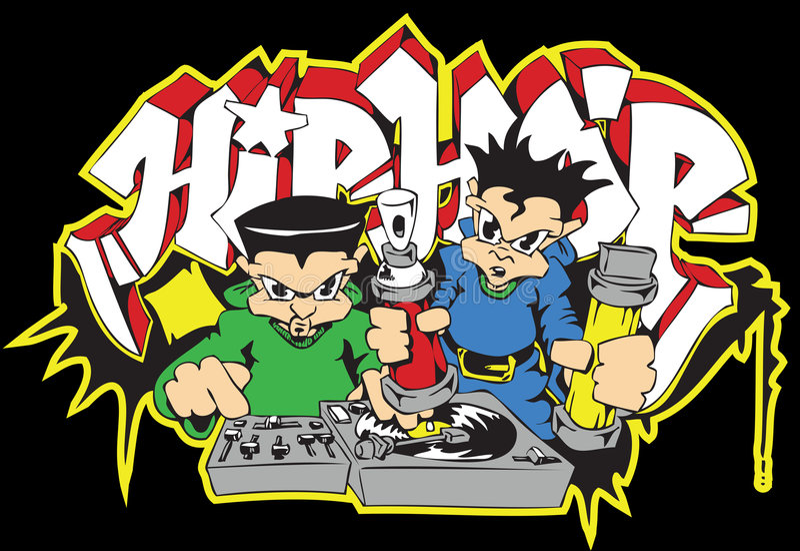 dj graffiti hip hop pisarz. ilustracja wektor