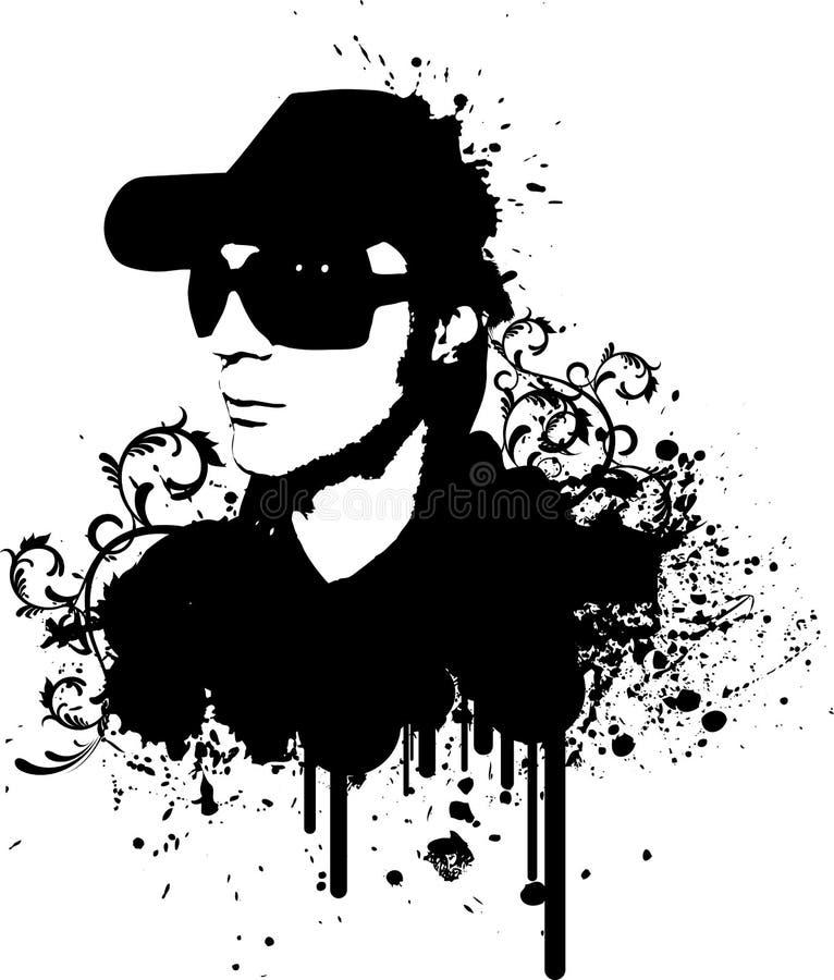 dj grunge 皇族释放例证