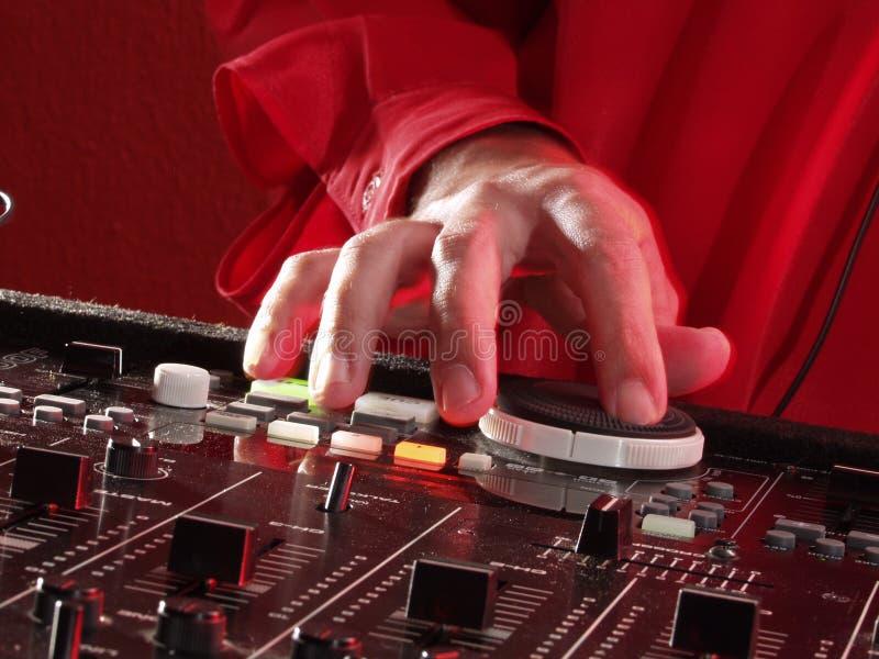 DJ hands. stock image