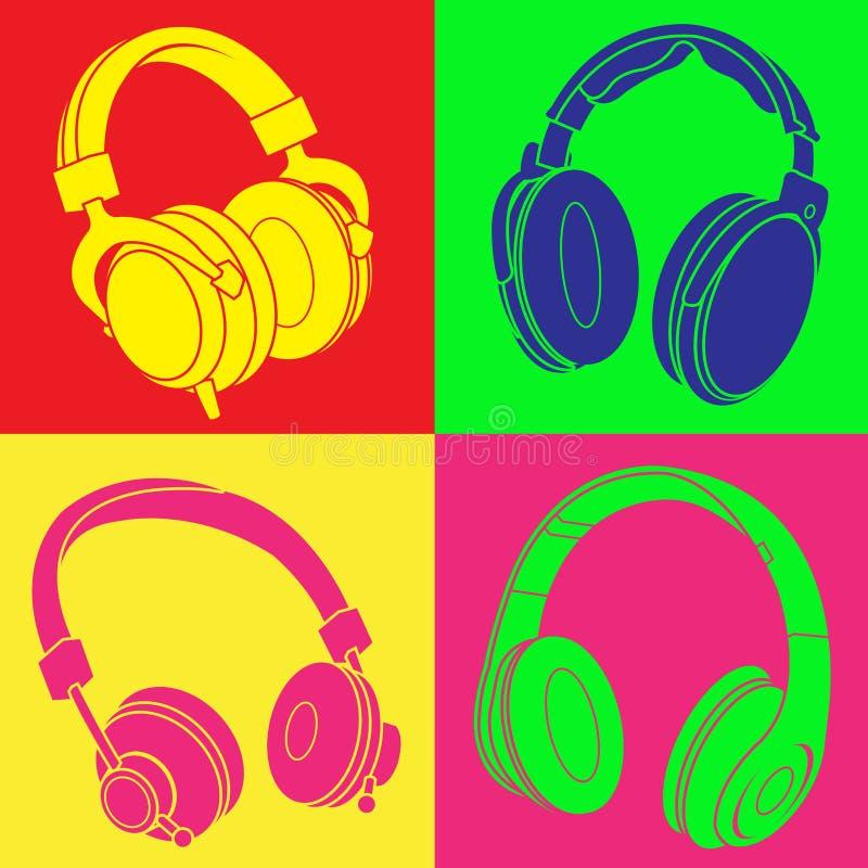 DJ hełmofonów wystrzału projekt ilustracja wektor
