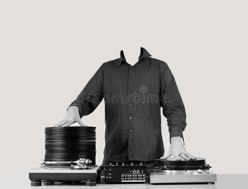 DJ headless στοκ εικόνα με δικαίωμα ελεύθερης χρήσης