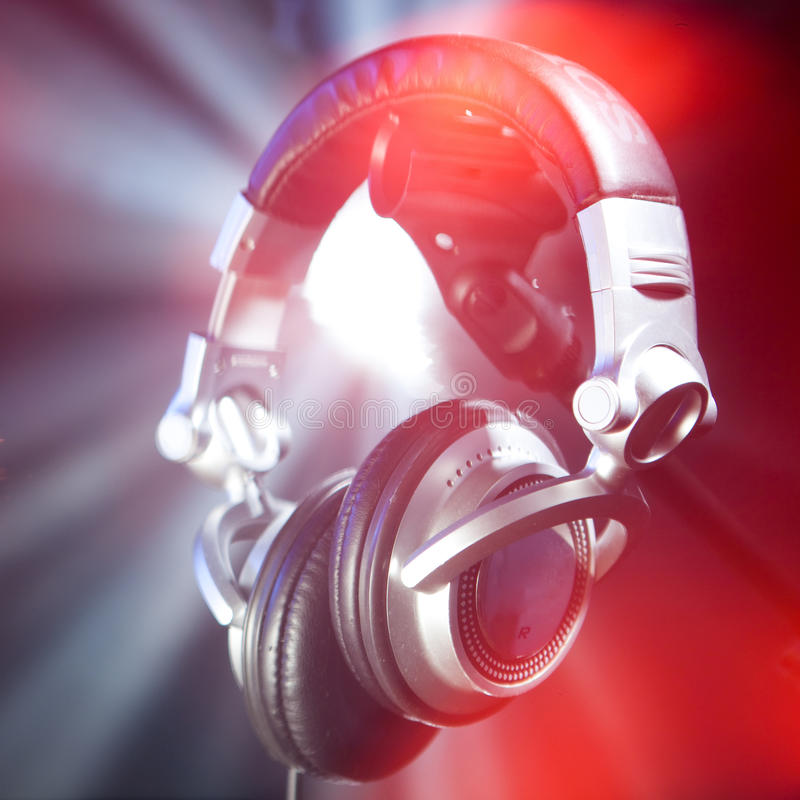 Dj headphones stock images
