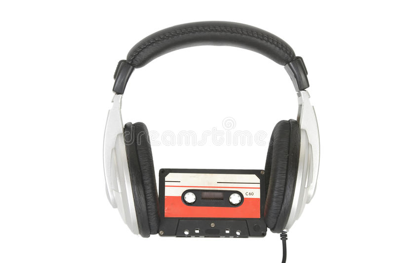 Download Dj Headphones And Audio Cassette Stock Image - Image of player, background: 14850883