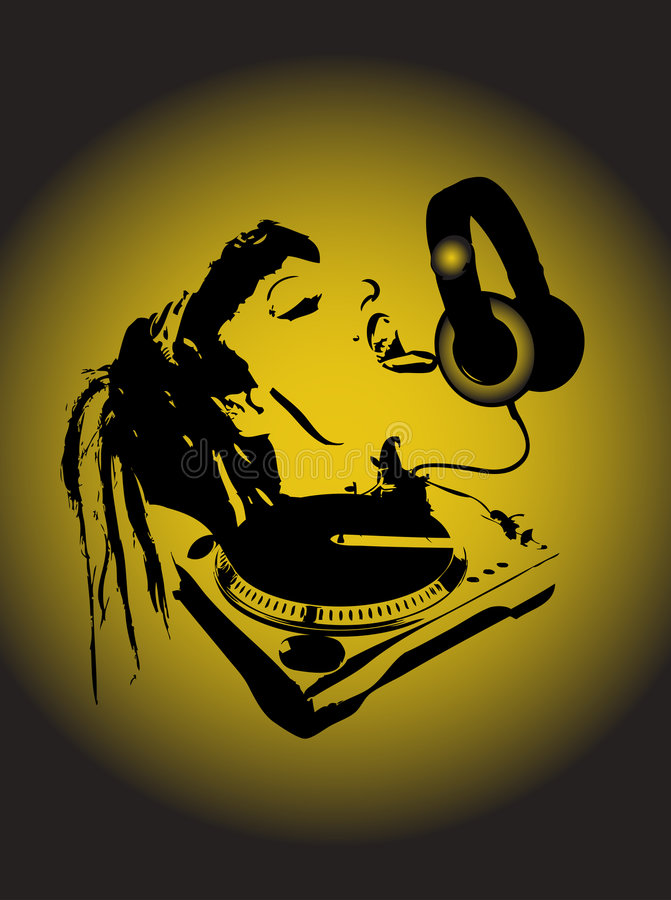 dj hey royaltyfri illustrationer