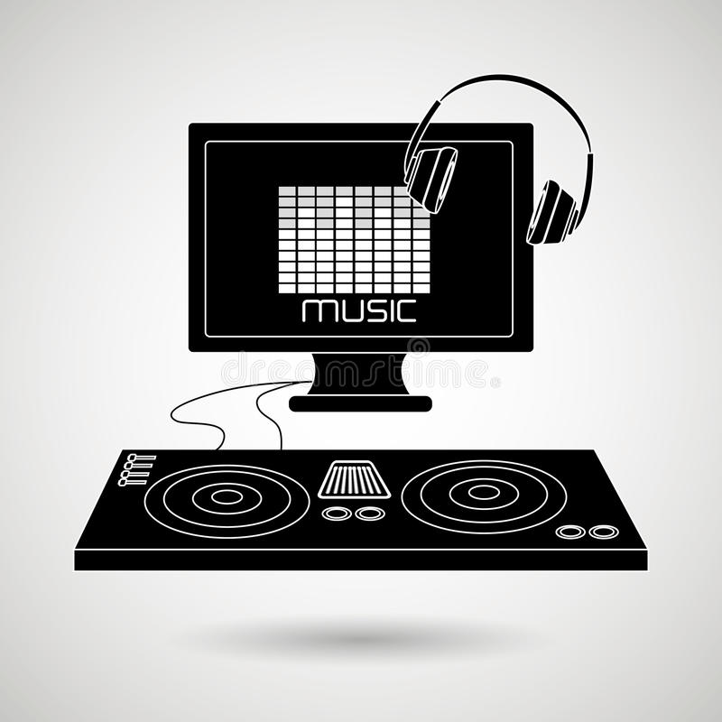 Dj icon design. Illustration eps10 graphic stock illustration