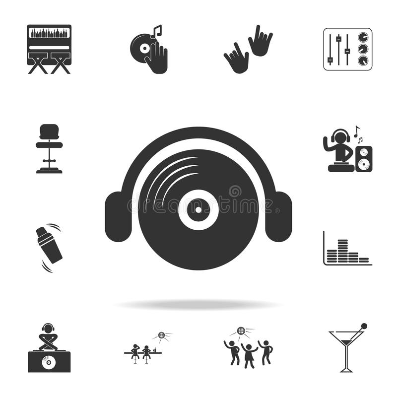 DJ icon. Detailed set of night club and disco icons. Premium quality graphic design. One of the collection icons for websites, web stock illustration