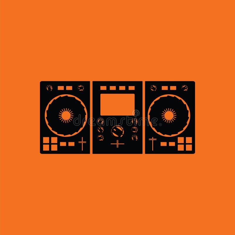 DJ icon vector illustration
