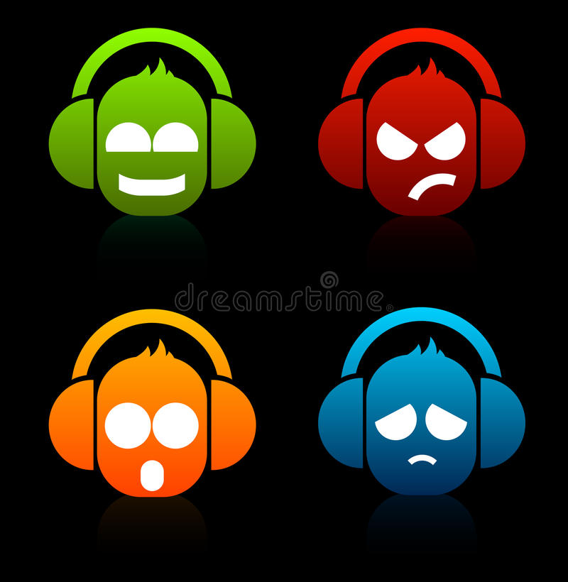 Download DJ icons stock illustration. Image of music, headphones - 16050235