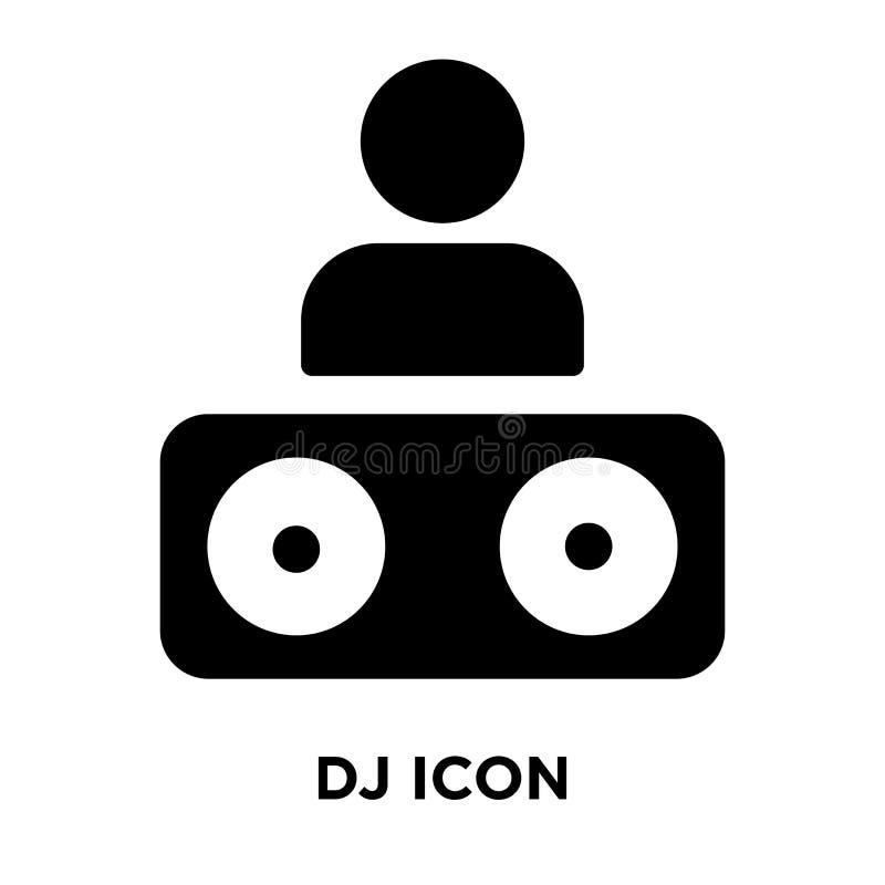 DJ-Ikonenvektor lokalisiert auf weißem Hintergrund, Logokonzept von DJ vektor abbildung