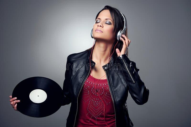 DJ kobieta obrazy stock