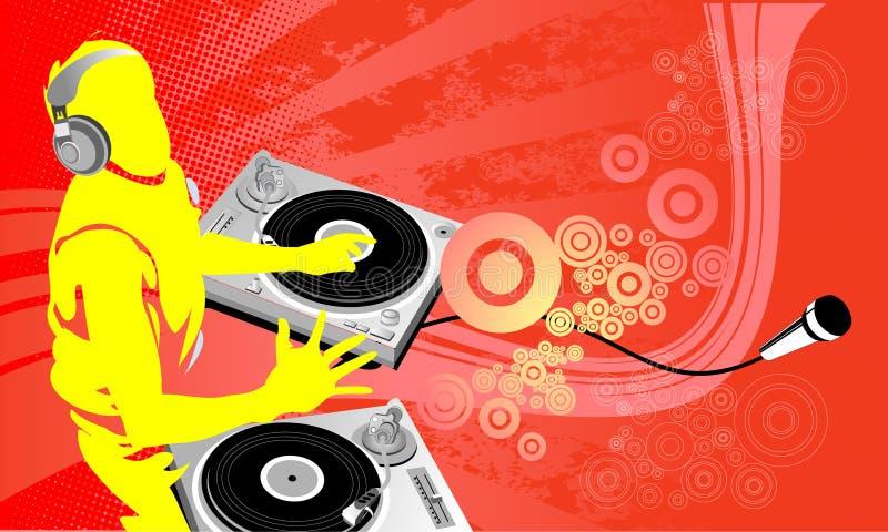 DJ-Kunstarbeit lizenzfreie abbildung
