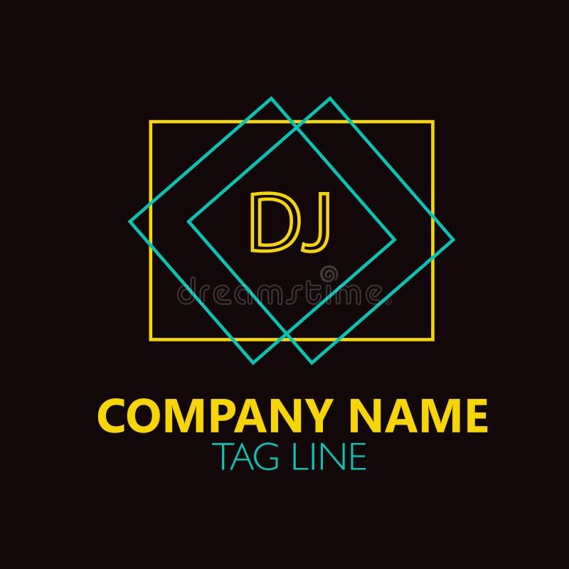 Free DJ Letter Logo Design. Stock Photos - 87746823