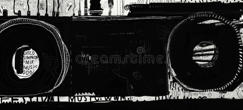 Dj melanżer royalty ilustracja