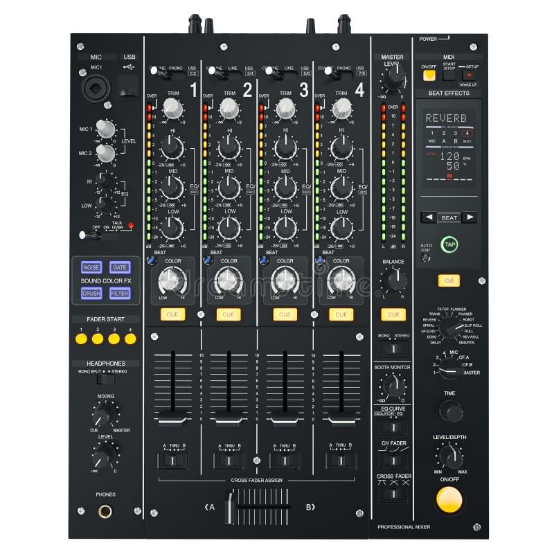 DJ melanżeru czerń ilustracji