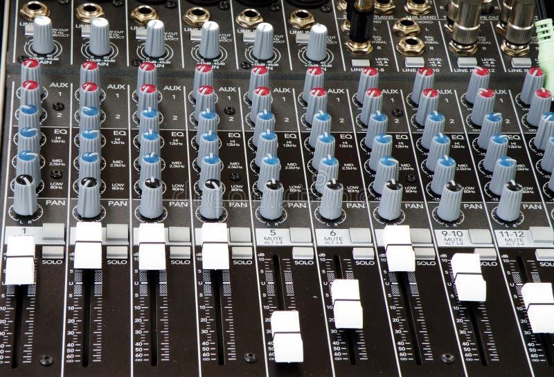 dj melanżeru dźwięk muzyki fotografia stock