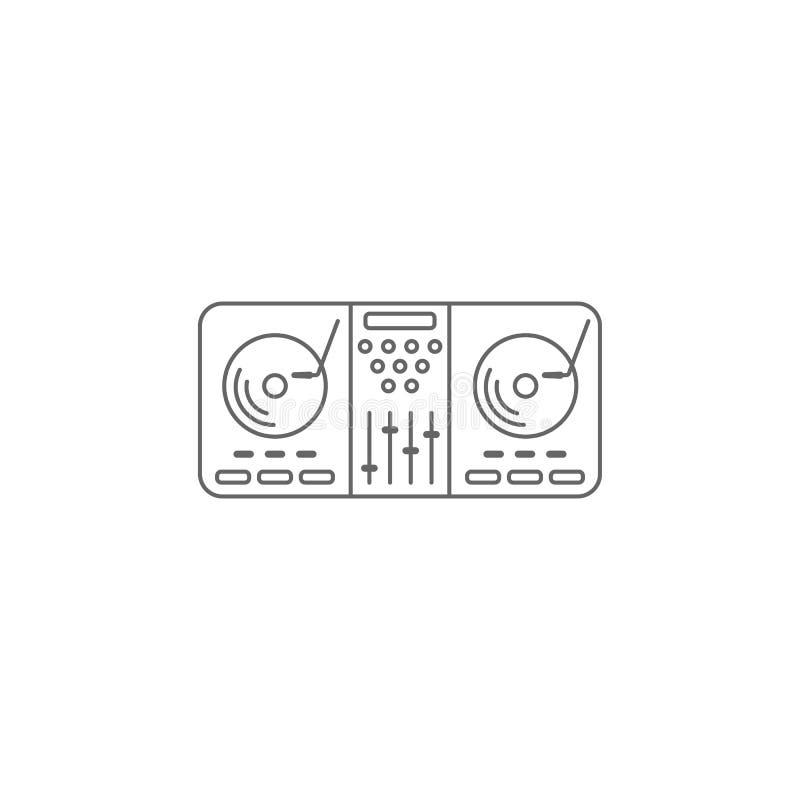 DJ melanżeru ikona Prosta element ilustracja DJ melanżeru symbolu projekta szablon Może używać dla sieci i wiszącej ozdoby royalty ilustracja