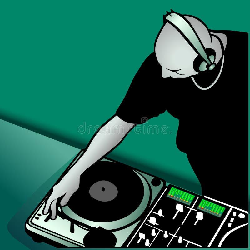 DJ-Mischen vektor abbildung