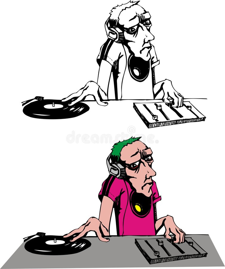 DJ mix vector illustration