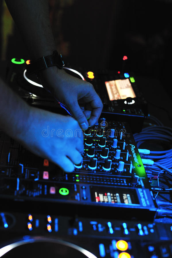 Dj console mixer royalty free stock image