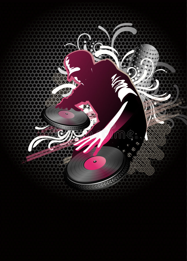 Dj Mix - Vector Royalty Free Stock Images