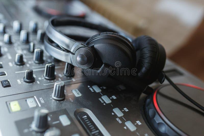 Download DJ Mixer With Headphones. Stock Photo - Image: 83710779