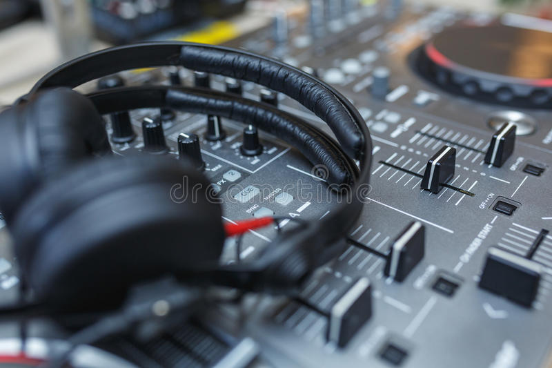 Download DJ Mixer With Headphones. Stock Photo - Image: 83711741