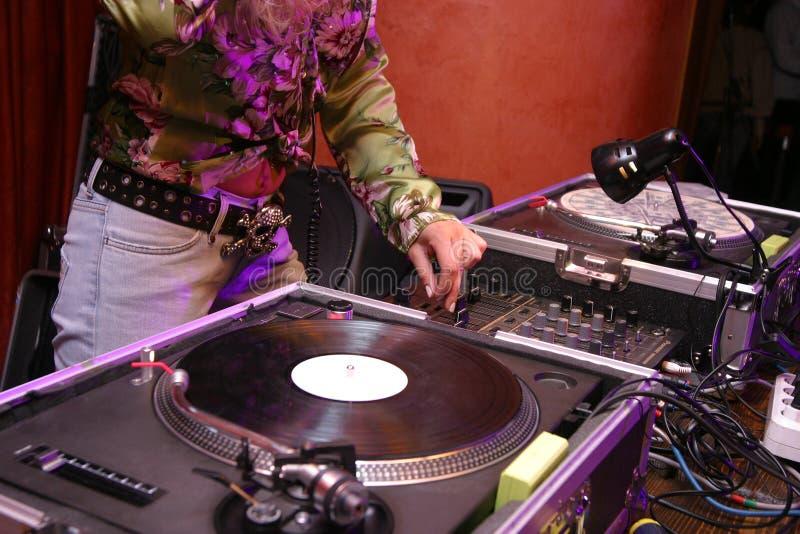 DJ - muchacha imagenes de archivo