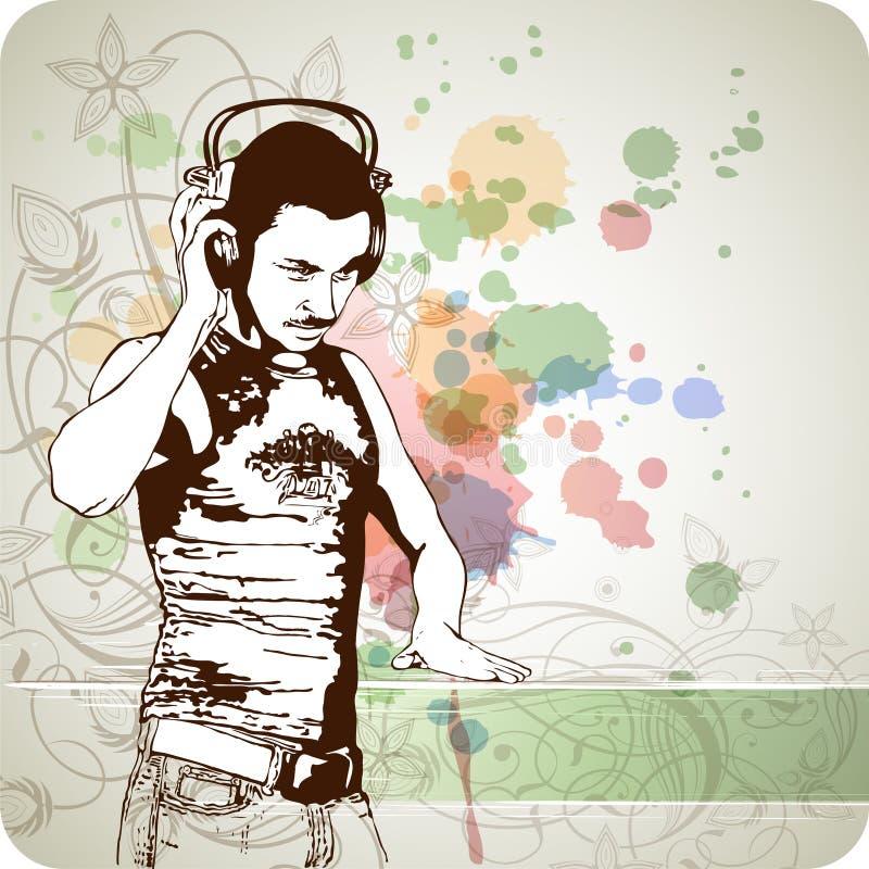 Free DJ & Music Colors Mix - Floral Ornament Stock Image - 18098721