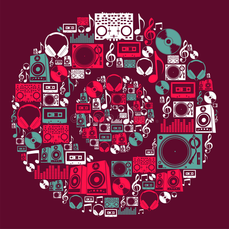 Download Dj Music Icons Disc Royalty Free Stock Photography - Image: 25888987