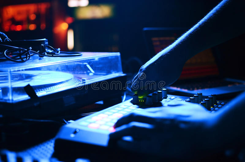 DJ Music night club stock images