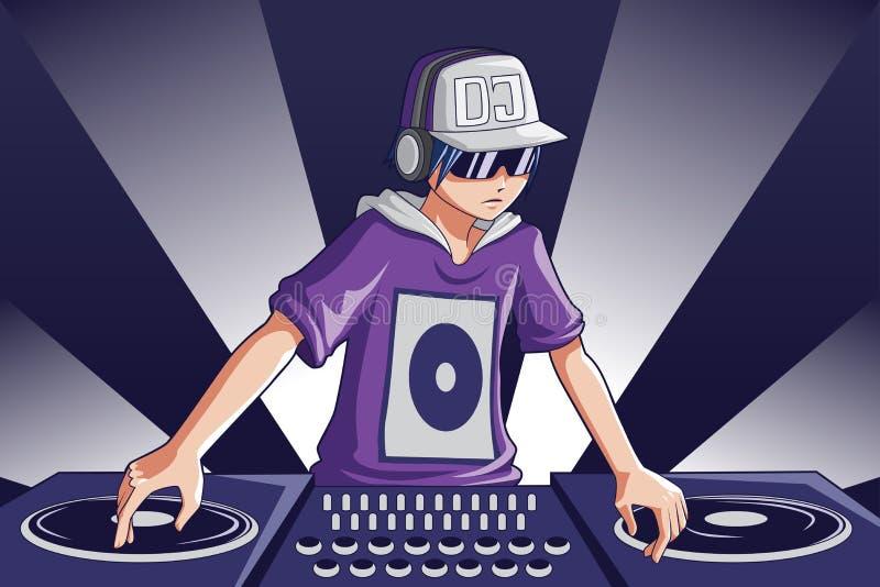 dj-musik stock illustrationer