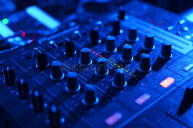 DJ-MusikNachtclub lizenzfreies stockbild